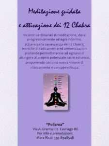 Corso Meditazione Chakra @ Studio Policrea di Caiti Roberto | Cavriago | Emilia-Romagna | Italia